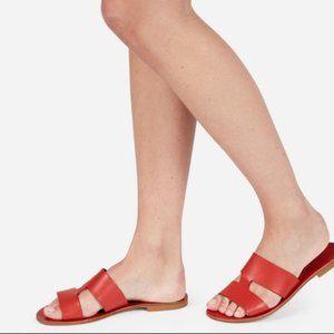 Everlane bridge red sandals size 9